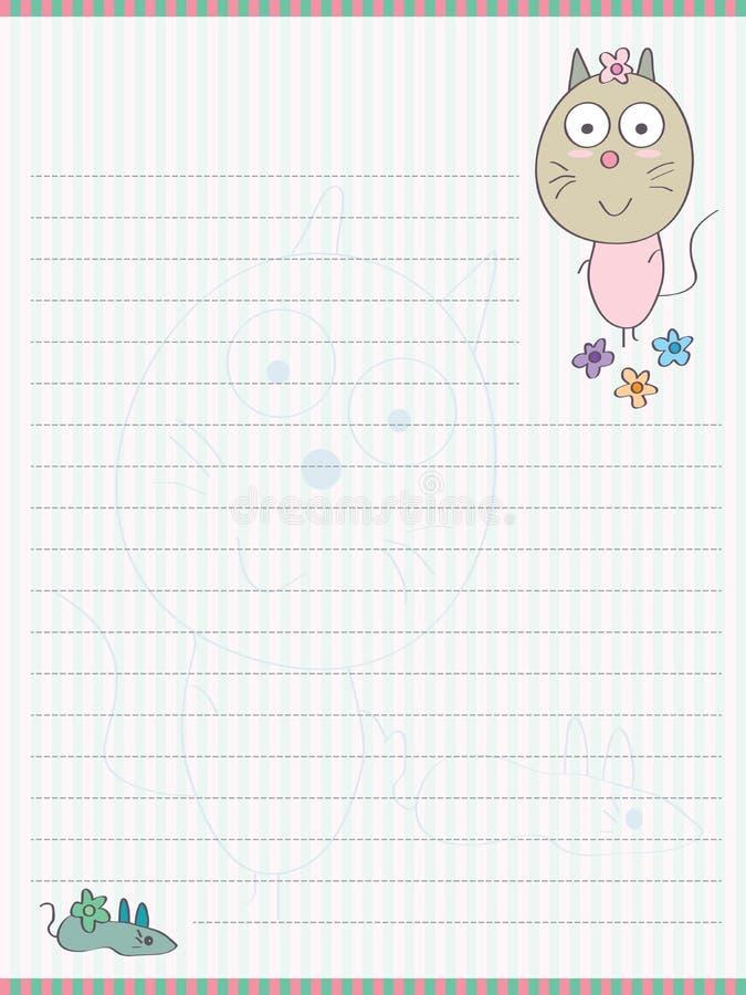 Cat Mouse Memo Pad illustration libre de droits