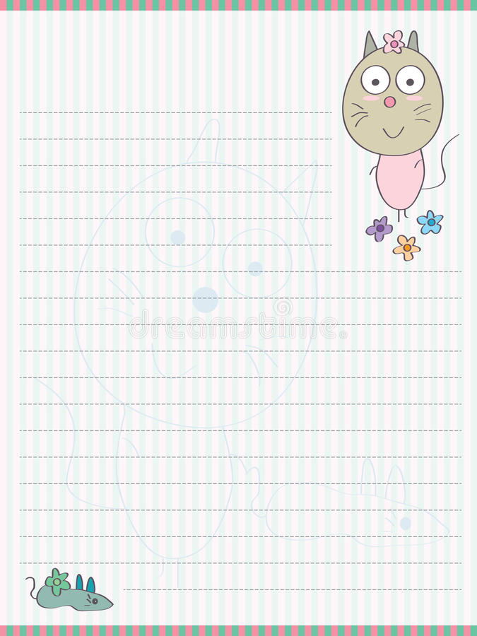 Free Cat Mouse Memo Pad_eps Royalty Free Stock Image - 40317396