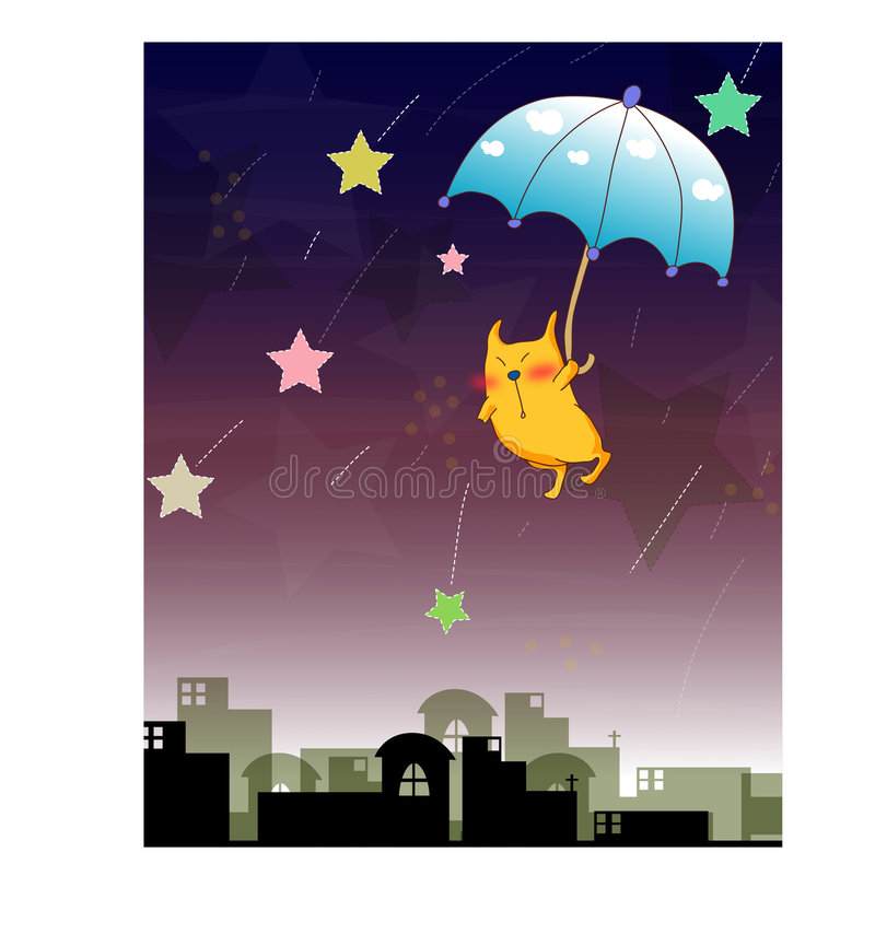 Download Cat And Night Scenes Stock Images - Image: 8277624