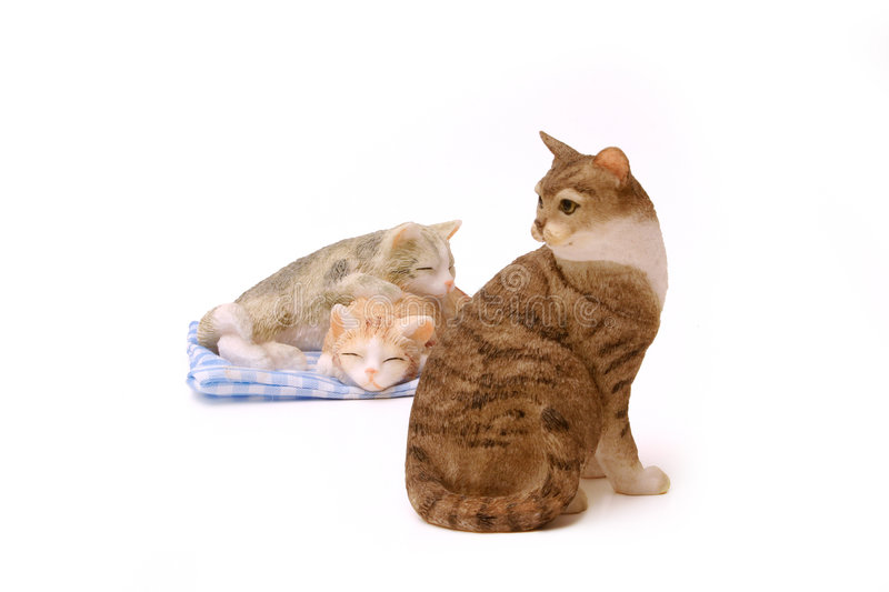 Download Cat ornaments stock photo. Image of feline, objects, decorate - 118600