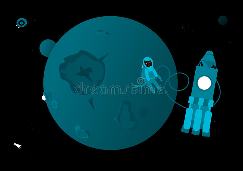 Download Cat in Outer Space stock vector. Image of illustration - 17129516