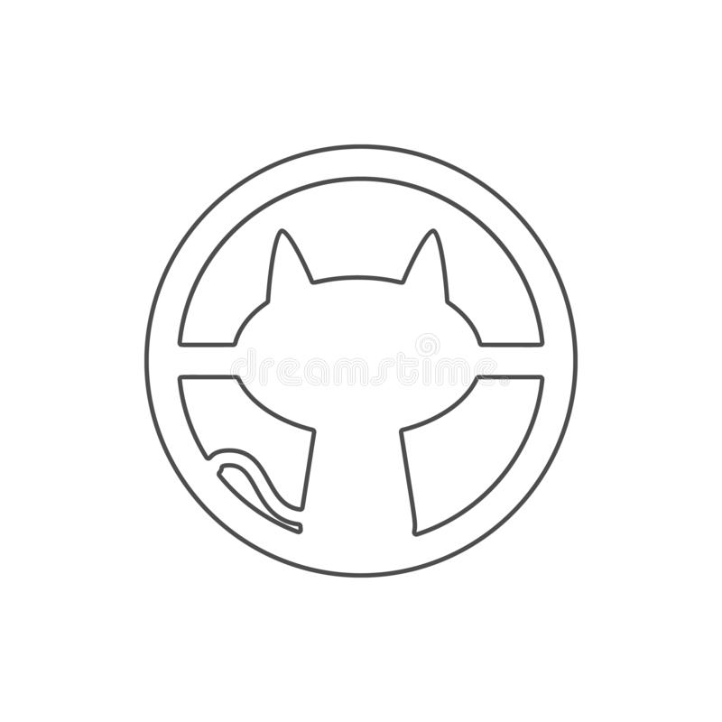 cat outside the window icon. Element of web for mobile concept and web apps icon. Thin line icon for website design and vector illustration