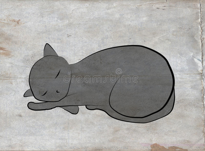 Download Cat over grunge stock illustration. Image of russian - 16894258