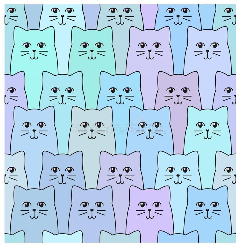 Free Cat Pattern Royalty Free Stock Image - 57143566