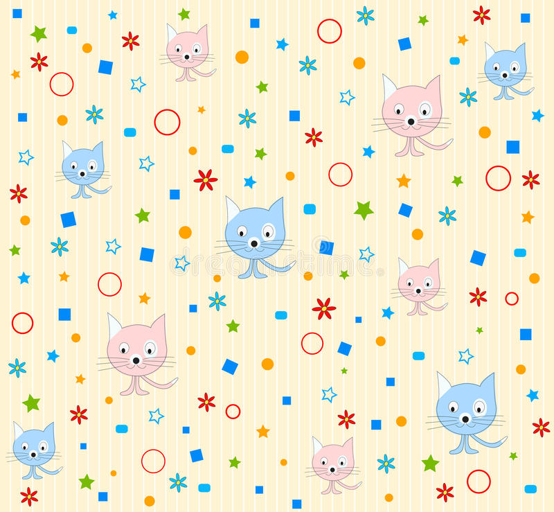Download Cat Pattern Background Royalty Free Stock Photos - Image: 19856698