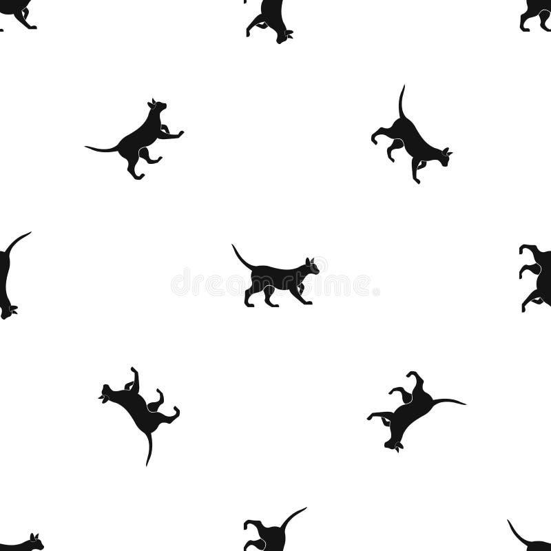 Cat pattern seamless black stock photography
