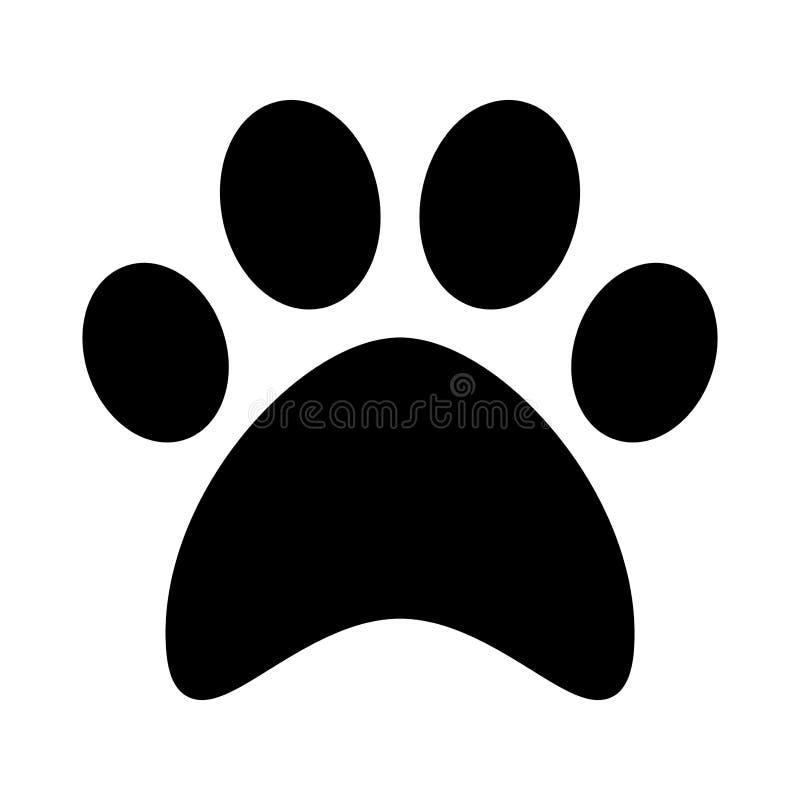 cat paw print flat icon symbol vector stock vector rh dreamstime com vector paw print trail vector paw print trail