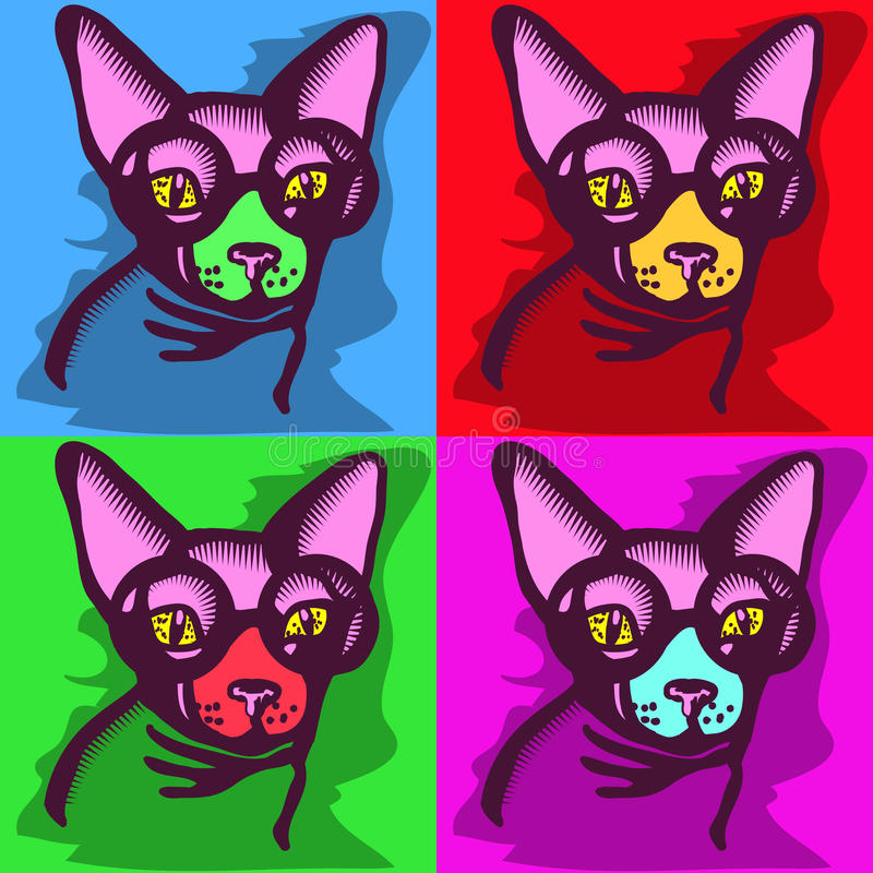 Cat picture royalty free illustration