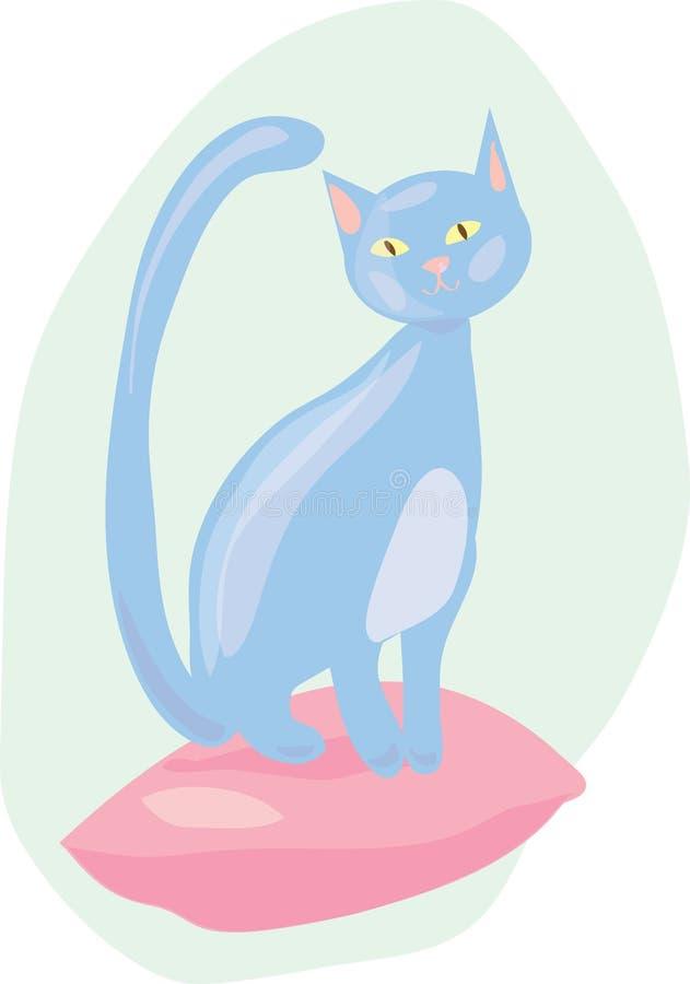 Download Cat on pillow stock vector. Image of kitten, tomcat, felid - 13027843