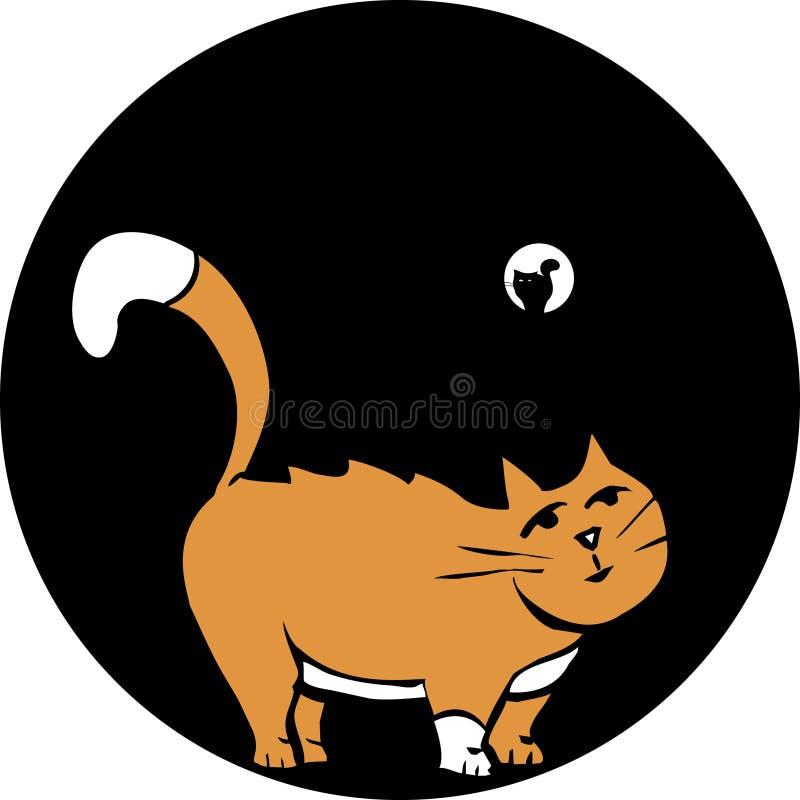 Cat in Pipe stock illustration