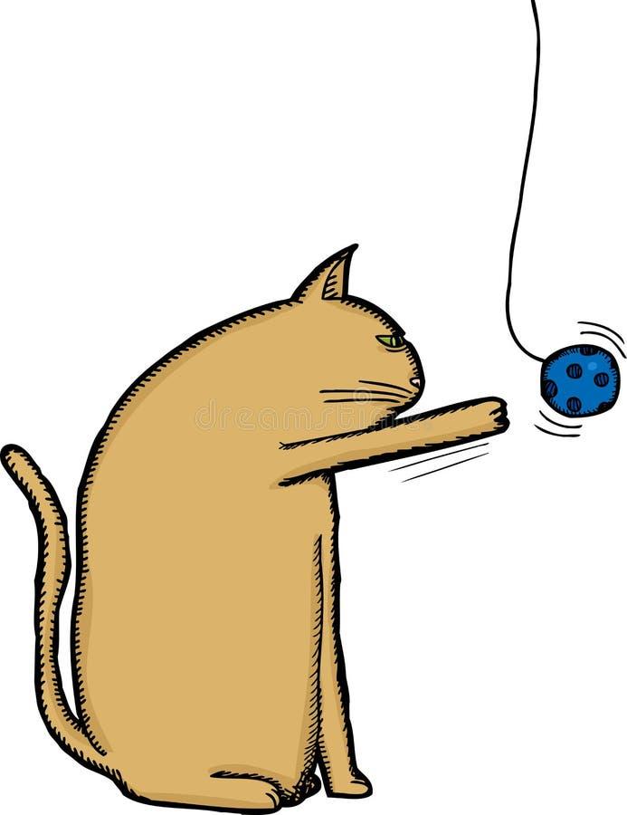 Cat Playing avec le jouet illustration stock