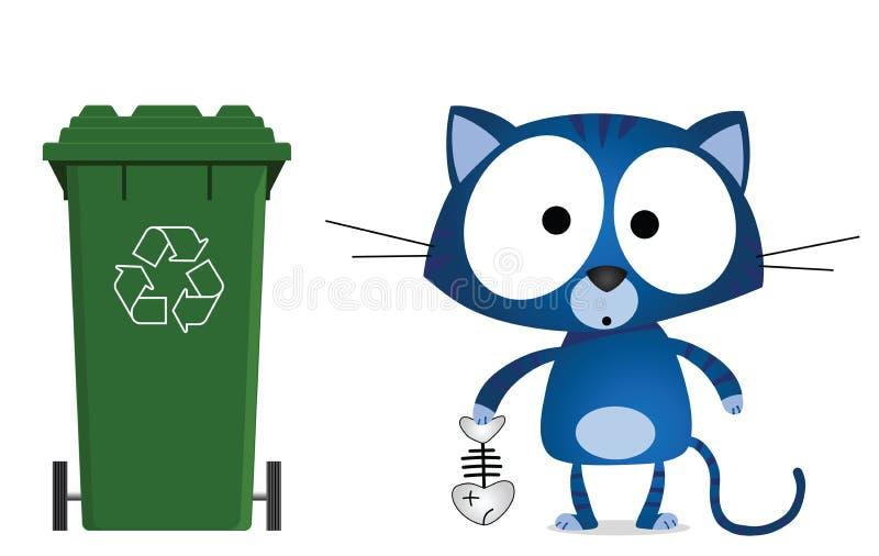 Cat recycling vector illustration