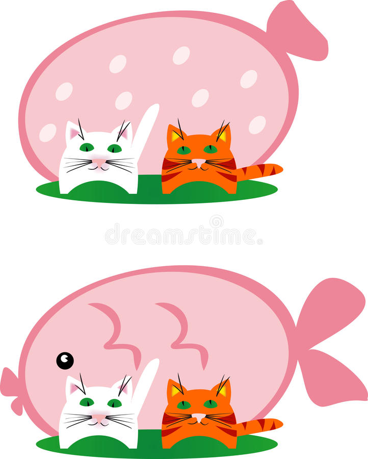 Download Cats dream stock vector. Image of food, characters, drawing - 21886371