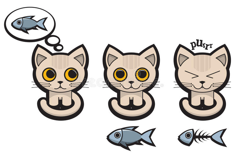 Cat S Emotions Royalty Free Stock Photos