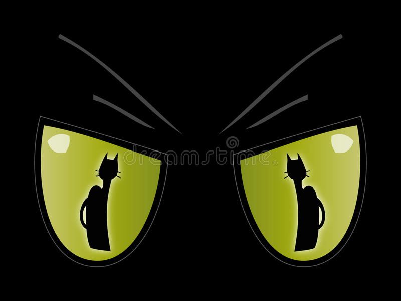 Download Cat's eye. stock illustration. Image of carnivorous, black - 13995552