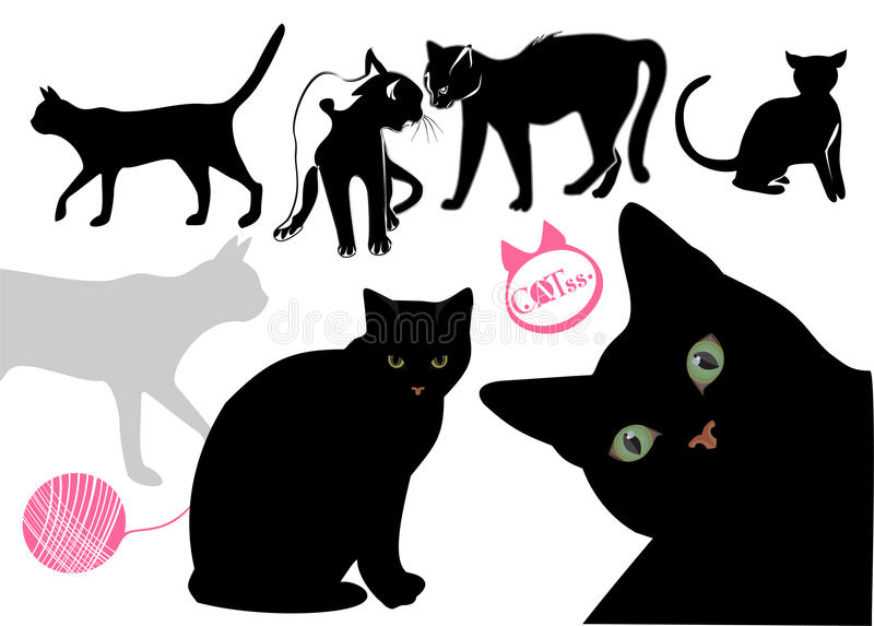 Cat S Life Background Royalty Free Stock Images