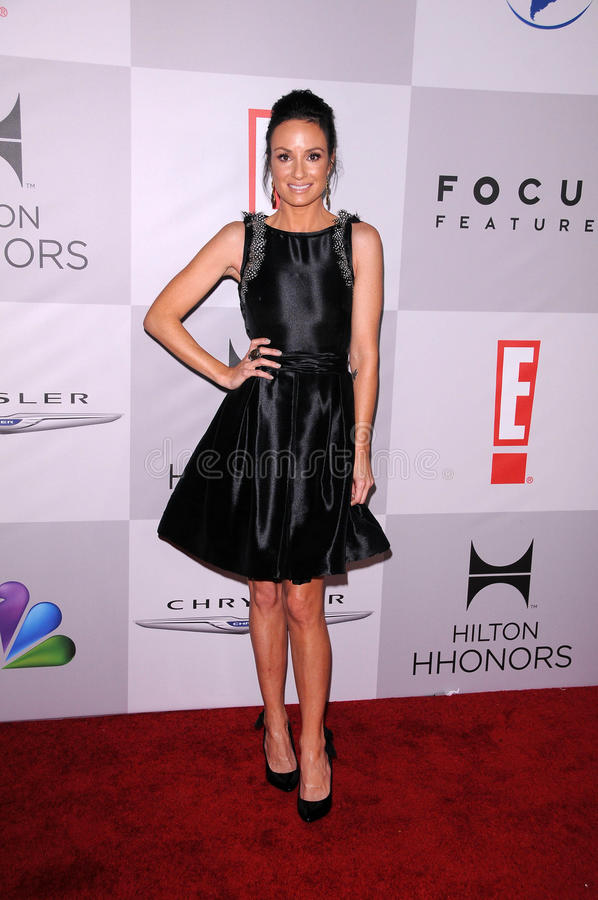 Cat Sadler at the NBC/Universal/Focus Features Golden Globes Party, Beverly Hilton Hotel, Beverly Hills, CA 01-15-12 royalty free stock photo