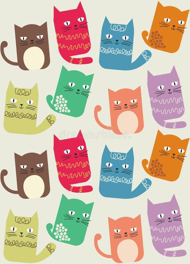Cat Seamless Background Pattern stock foto's