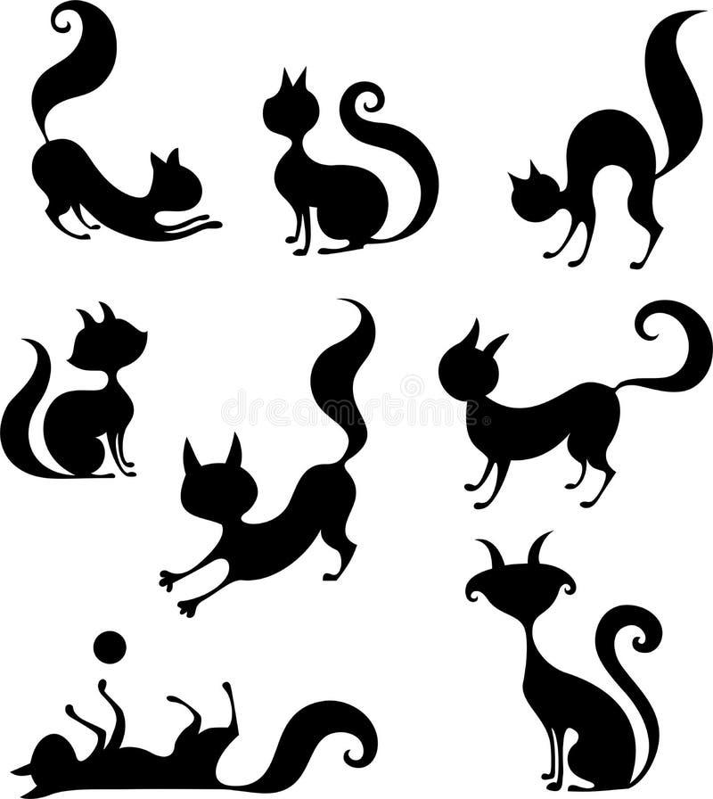 Download Cat set stock vector. Illustration of clipart, sketch - 26803466