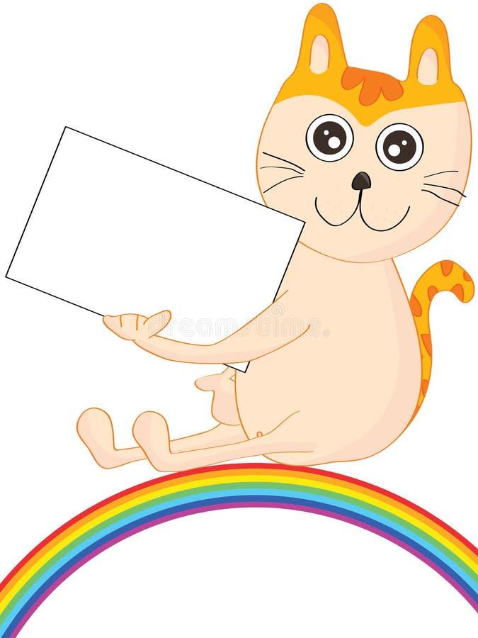 Cat Show Name Card Rainbow vector illustratie