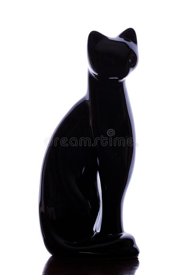 Cat Silhouette royalty-vrije stock afbeelding