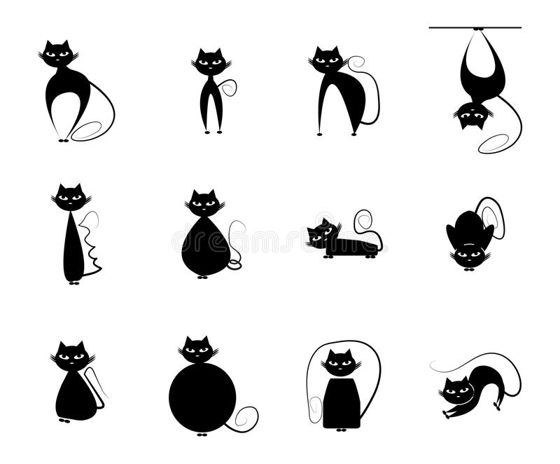 Cat Silhouette illustration libre de droits