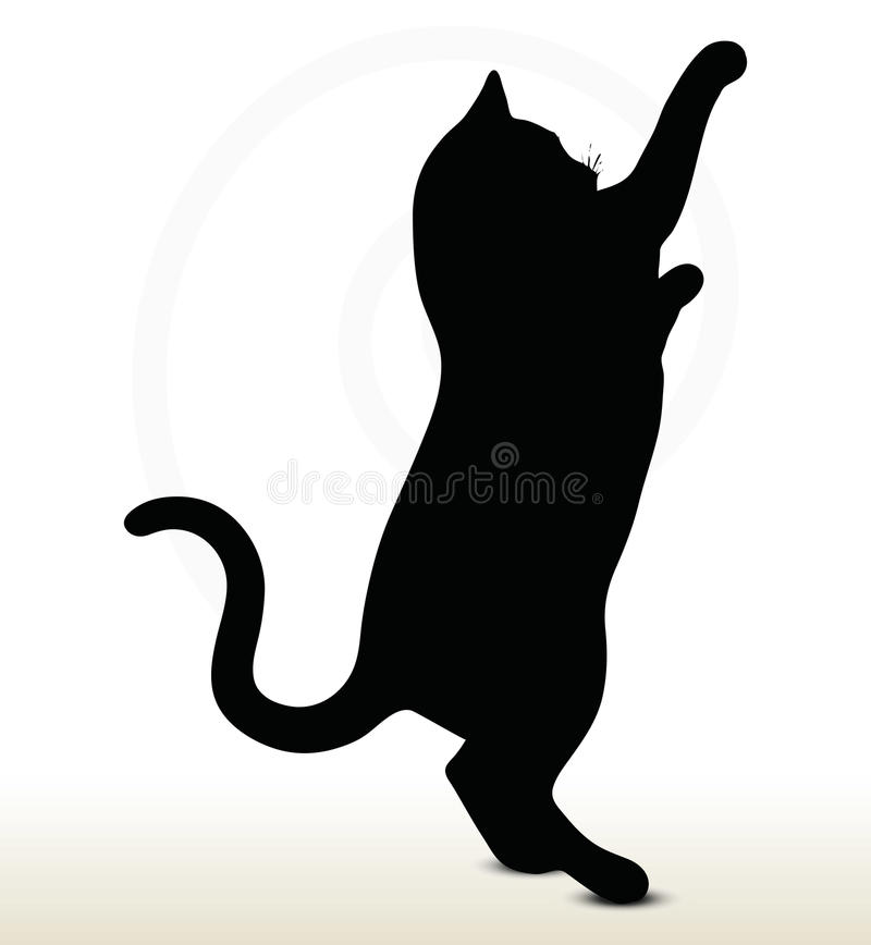 Cat Silhouette lizenzfreie abbildung
