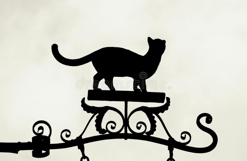 Cat Silhouette images libres de droits
