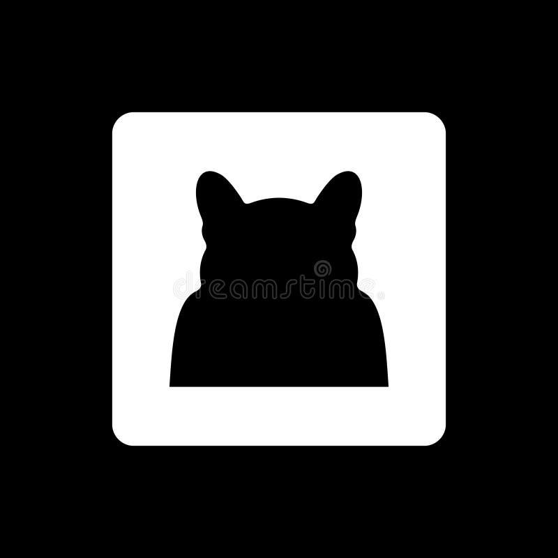 Cat Silhouette im Vektor lizenzfreie stockfotografie