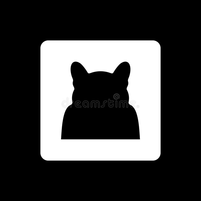 Cat Silhouette no vetor fotografia de stock royalty free