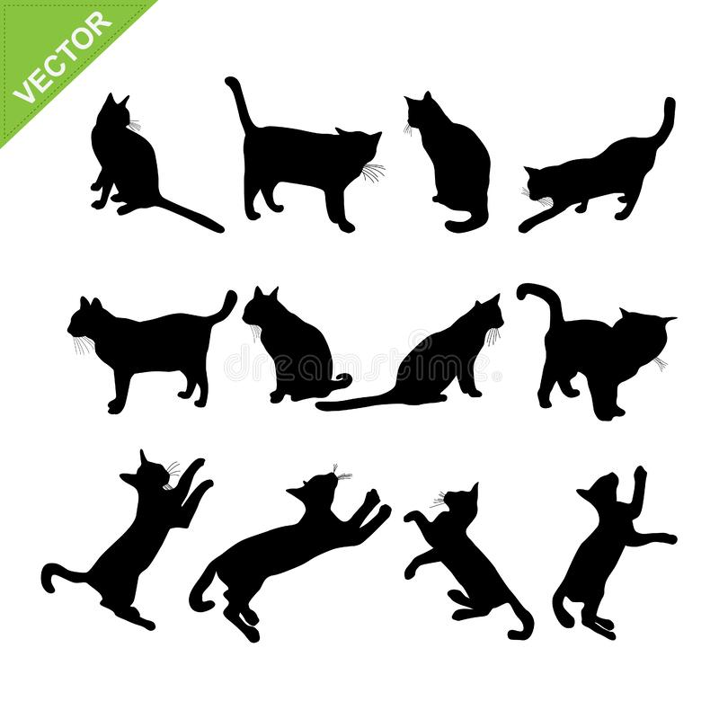 Cat Silhouette Vector illustration stock