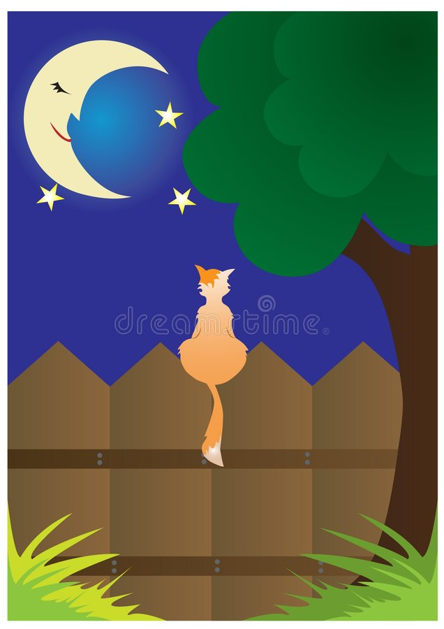 Cat Sitting On The Fence Stock Photography