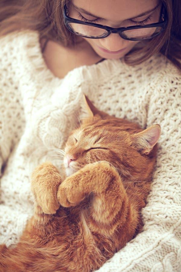 Cat Sleeping royaltyfria foton