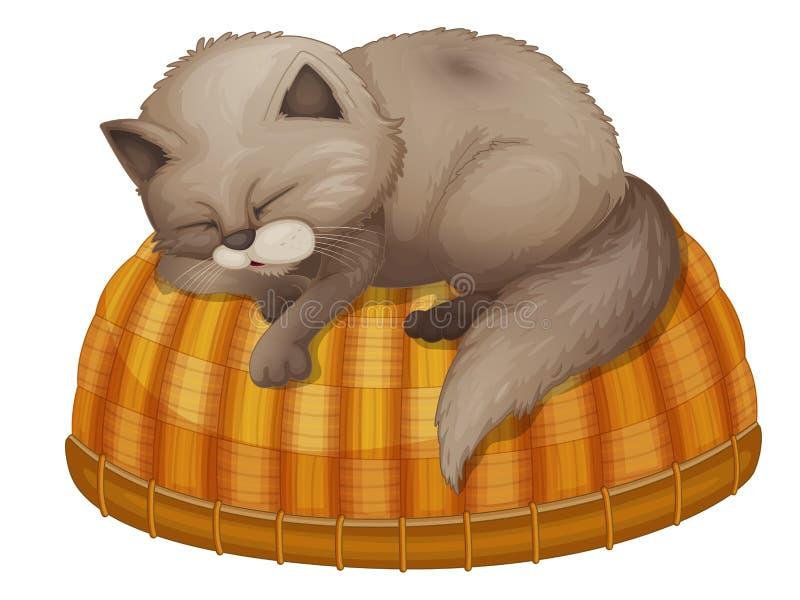 Cat sleeping royalty free illustration