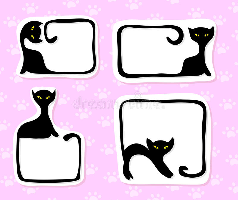 Download Cat stickers stock vector. Image of memo, card, kitty - 19312329