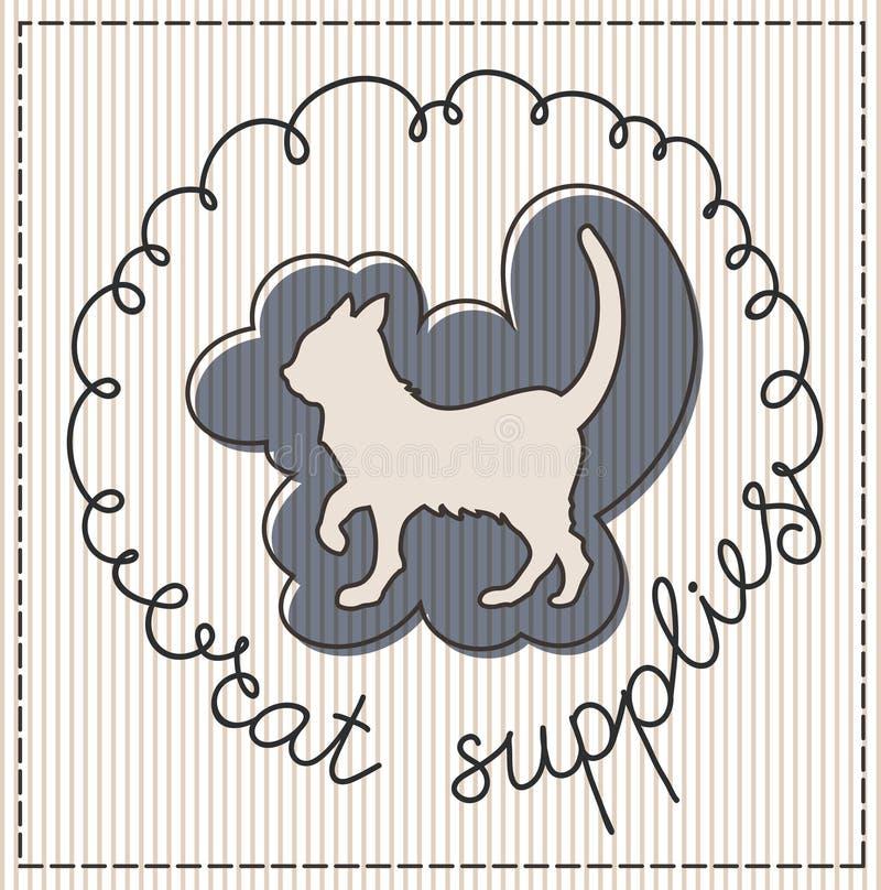 Download Cat supplies label stock vector. Image of header, hand - 30827377