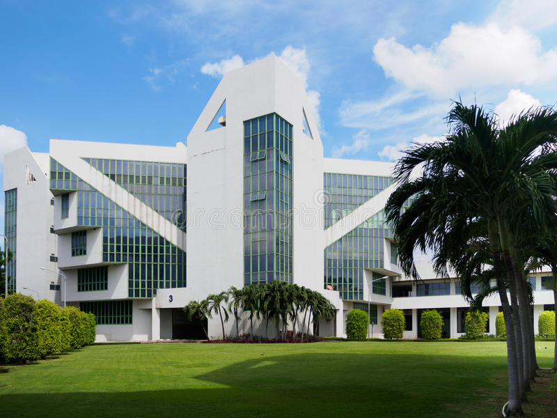 CAT Telecom-Gebäude stockbild