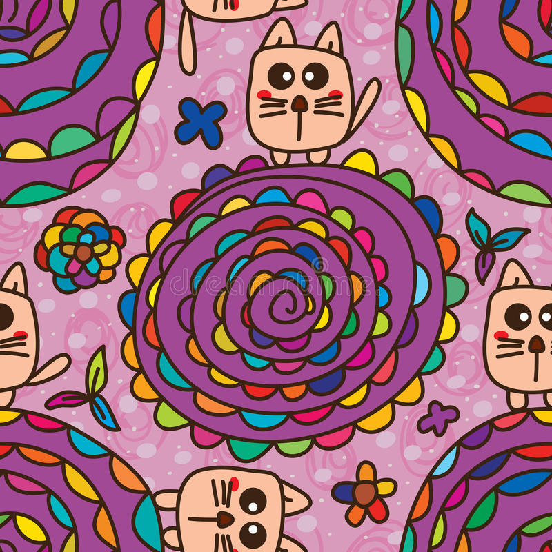 Free Cat Toy Flower Seamless Pattern Royalty Free Stock Photo - 57319705