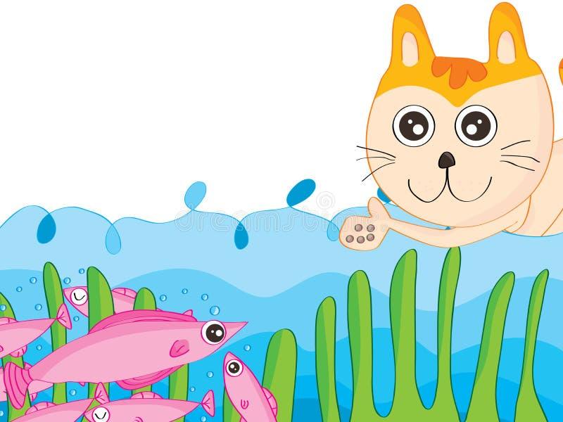 Cat Trap stock illustration