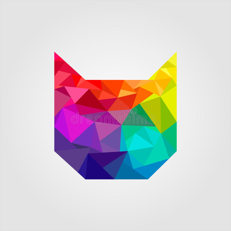 Cat of triangles royalty free illustration