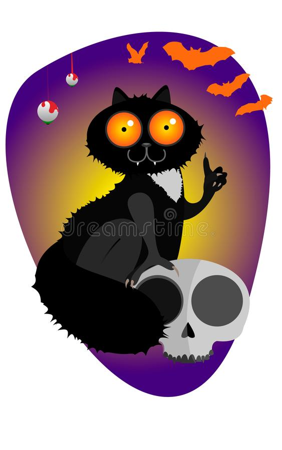 Cat vector art halloween stock illustration