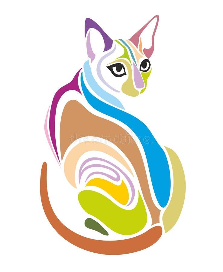Cat Vector Decorative grafisk design vektor illustrationer