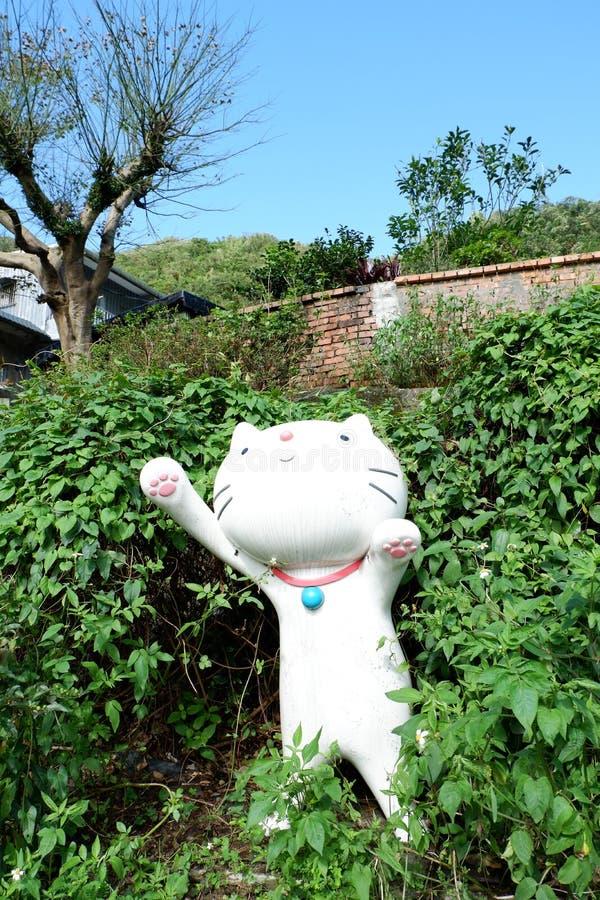 Cat village stock photos