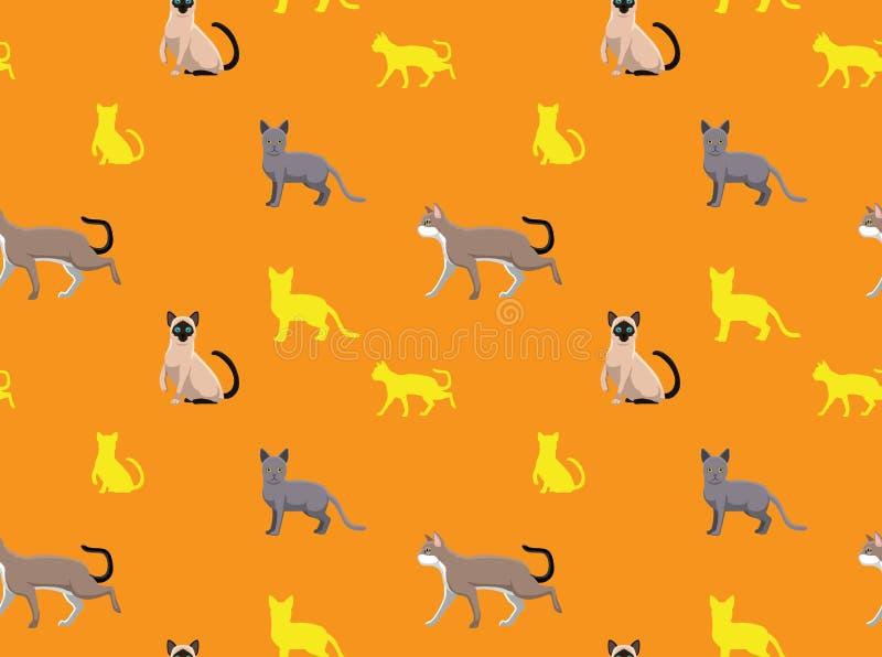 Cat Wallpaper 14 stock illustrationer