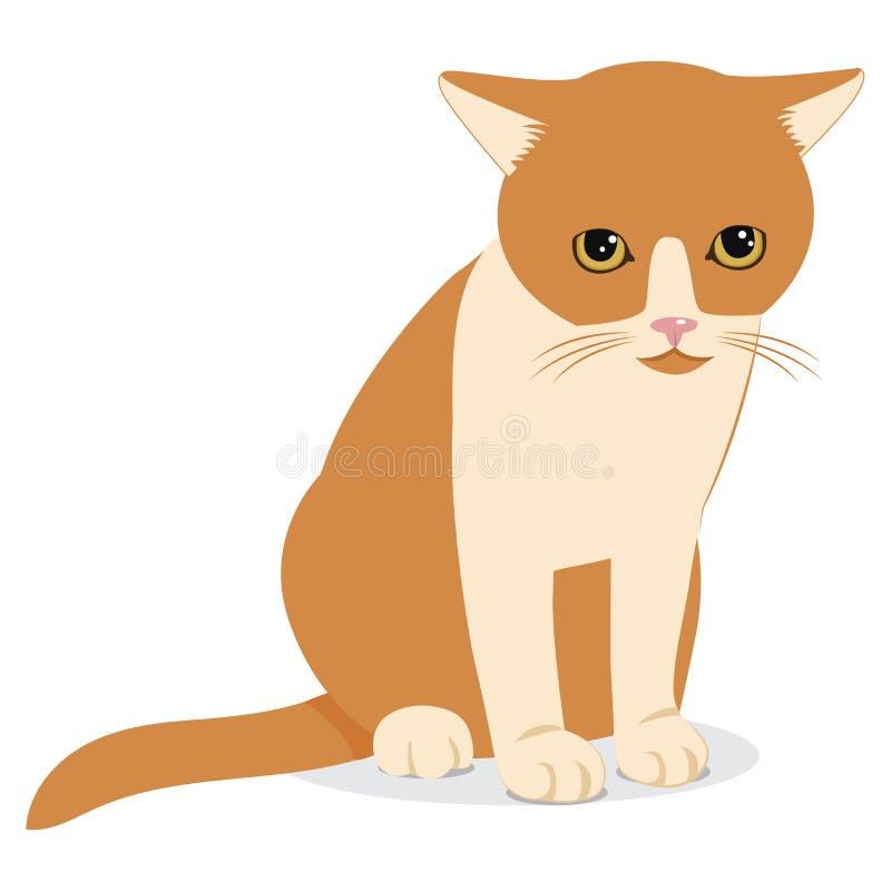 Cat Wants To Come In Chat désespéré triste Illustration de vecteur de dessin animé illustration de vecteur