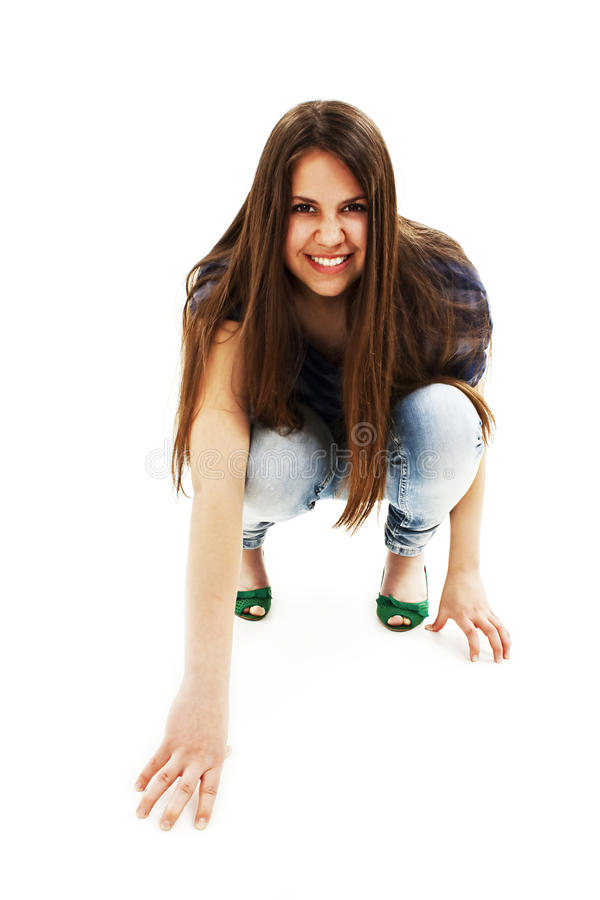 Download Cat woman stock photo. Image of lady, attack, brunette - 25158206