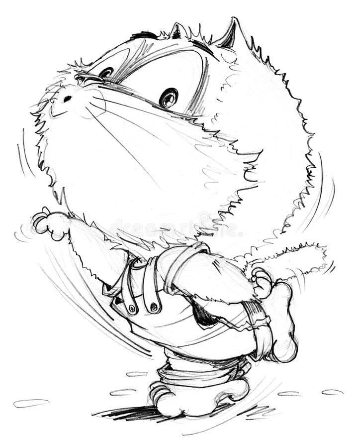 Download cat yoga acting cartoon character design pencil sketch stock illustration illustration of cartoon