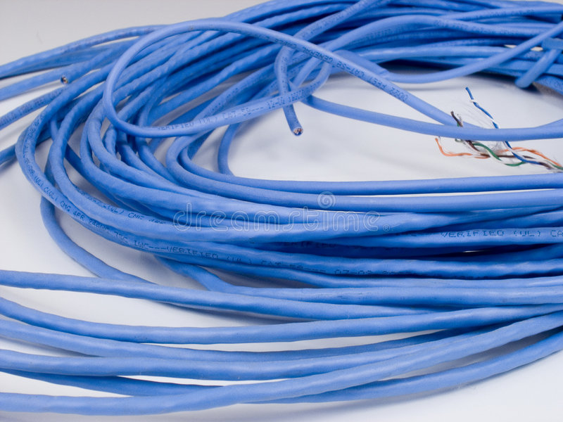 Cat5cable1 stock foto