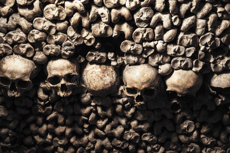 catacomben van Parijs royalty-vrije stock afbeelding
