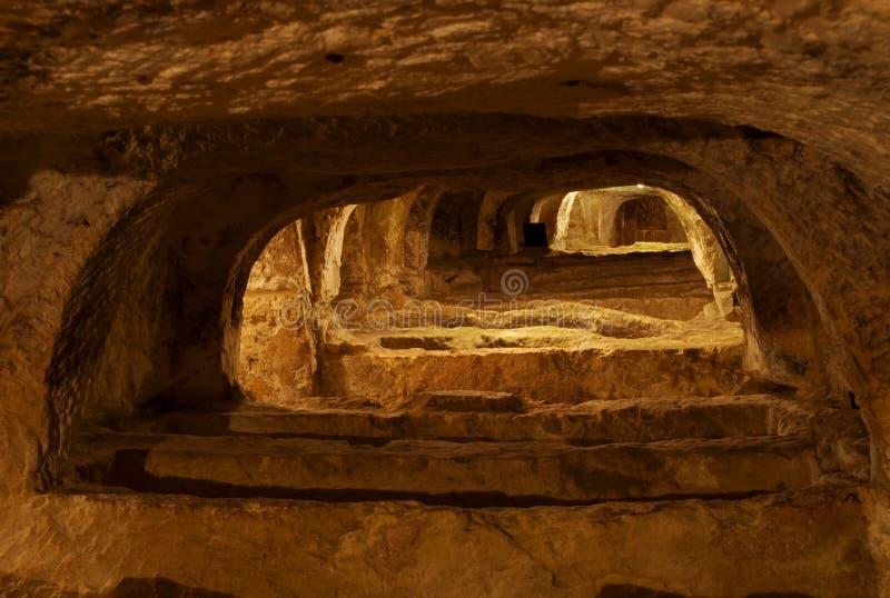 Catacombes chrétiennes, Rabat, Malte photographie stock libre de droits